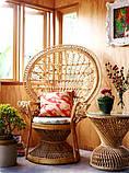 Крісло Павлін  натуральний ротанг світло-медовий kr0010, фото 9