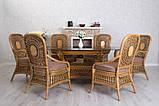 Обеденный комплект Ацтека  светло-коричневый (стол + 6 кресел), ok0028, фото 2