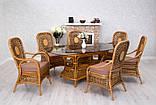 Обеденный комплект Ацтека  светло-коричневый (стол + 6 кресел), ok0028, фото 3