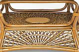 Обеденный комплект Ацтека  светло-коричневый (стол + 6 кресел), ok0028, фото 7