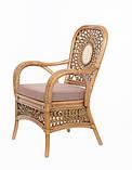Обеденный комплект Ацтека  светло-коричневый (стол + 6 кресел), ok0028, фото 8