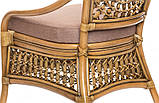 Обеденный комплект Ацтека  светло-коричневый (стол + 6 кресел), ok0028, фото 9