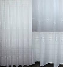 """Тюль готова лен """"версаче"""" (3х2,5м), цвет белый. Код 602т 40-265"""