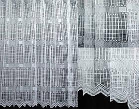 Тюль сетка, квадрат цвет белый. Код 604т (3 * 1,5 м) 40-267