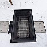 Коптильня горячего копчения 2мм, 520x320x340 домик, черная, фото 2