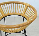 Плетений комплект Ніки  натуральний ротанг, km08212, фото 5