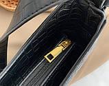 Мини сумка клатч, Женская сумка кросс-боди, маленькая сумочка через плечо для девушек крокодил, фото 6