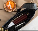 Мини сумка клатч, Женская сумка кросс-боди, маленькая сумочка через плечо для девушек крокодил, фото 7