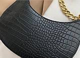 Мини сумка клатч, Женская сумка кросс-боди, маленькая сумочка через плечо для девушек крокодил, фото 8