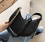 Мини сумка клатч, Женская сумка кросс-боди, маленькая сумочка через плечо для девушек крокодил, фото 10