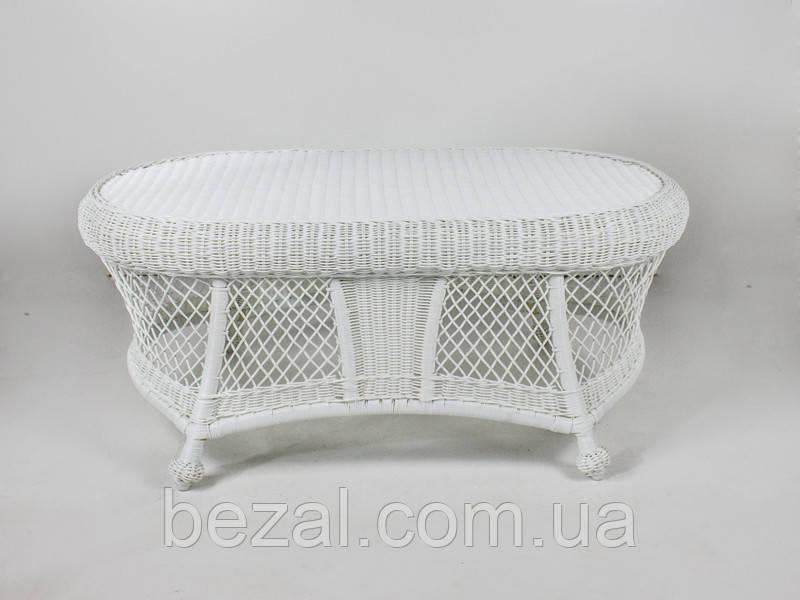 Кавовий столик Сопрано  штучний ротанг білий kt161020202