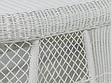 Кавовий столик Сопрано  штучний ротанг білий kt161020202, фото 3