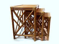 Комплект столиков Трио  натуральный ротанг ореховый ks0014121, фото 1