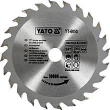 Диск пильный твер. сплав 130х16х2.8х2 Yato YT-6050