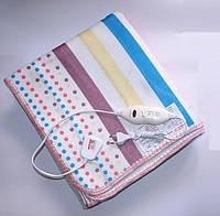 Электропростынь с сумкой electric blanket 150*170 в цветную полоску Электро простынь в Украине