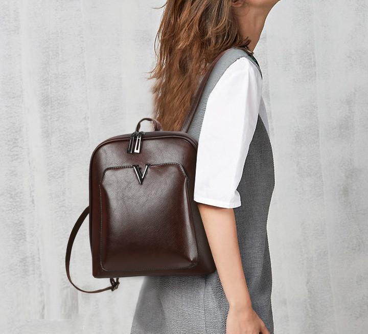Классический женский городской рюкзак