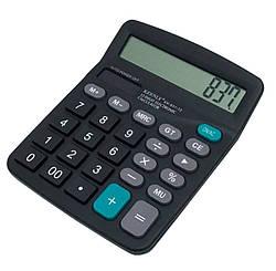 Калькулятор обычный Keenly KK 837-12, настольный, черный