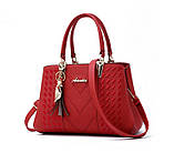 Стильная женская сумка с брелком, фото 2