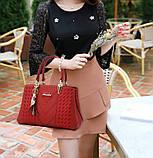 Стильная женская сумка с брелком, фото 3