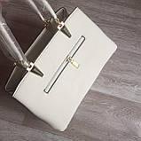 Стильная женская сумка с брелком, фото 4