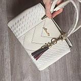 Стильная женская сумка с брелком, фото 6