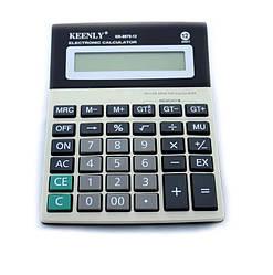 Калькулятор настольный Keenly KK 8875-12, обычный, серый с черным