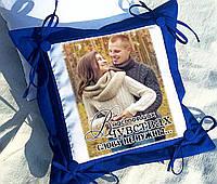 Подушка с фото, подарок на годовщину свадьбы,  День Св. Валентина