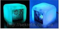 "Часы-будильник ""Хамелион"" с термометром, меняет цвет"