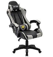 Поворотне крісло з подушками EXT ONE Gray Офисное кресло компьютерное Стул игровой Кресло спорт ігрове крісло