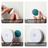 Світлодіодний нічний бездротовий світильник з можливістю зарядки від USB, фото 6