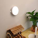 Світлодіодний нічний бездротовий світильник з можливістю зарядки від USB, фото 7