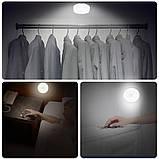 Світлодіодний нічний бездротовий світильник з можливістю зарядки від USB, фото 9