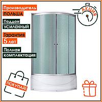 Гидромассажный бокс Lidz Tani 90*90 SAT душевая кабина 900 на 900 средний поддон 6 форсунок и тропический душ