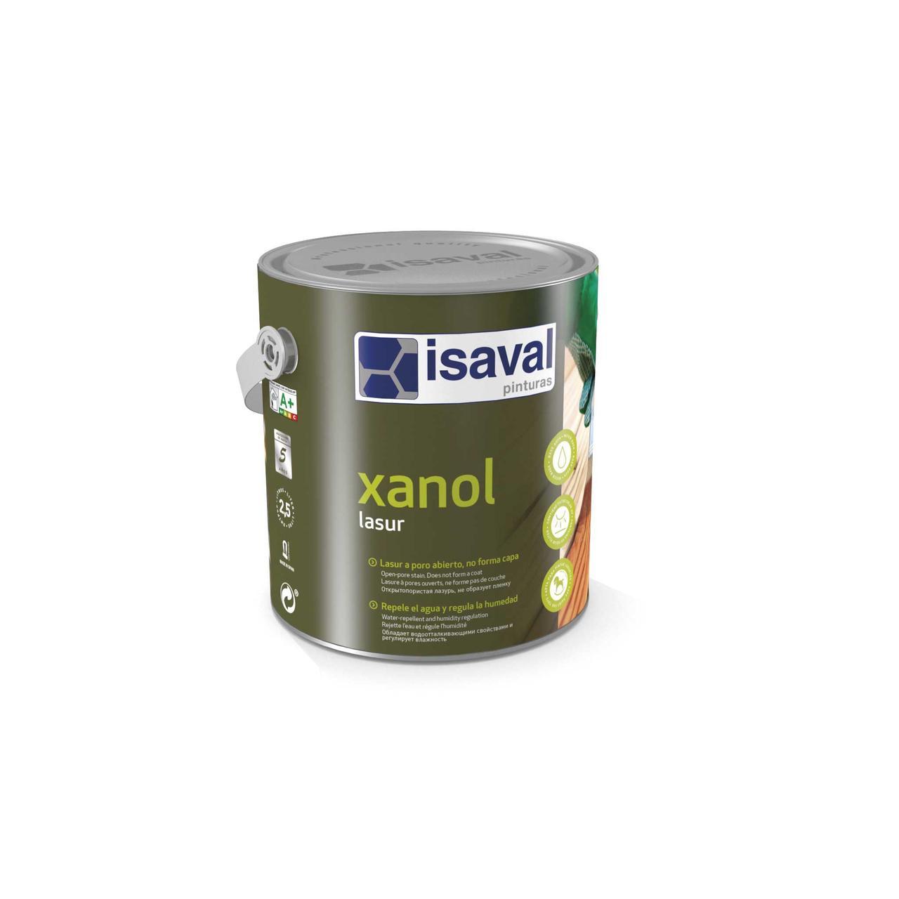 Защитная лазурь для дерева на водной основе Ксанол ISAVAL цветная 0,75л≈10м²/слой