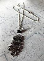 Стильный кулон сова на цепочке  в подарок для девушки на день Святого Валентина, фото 1