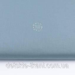 Однотонна польська бязь сизого кольору (№3234).