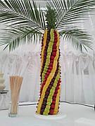Фруктова пальма з натуральних фруктів 1 м