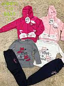 Трикотажный костюм - тройка для девочек S&D оптом, 1-5 лет. Артикул: CH5801