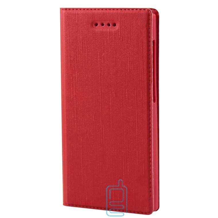 Универсальный чехол-книжка однотонный без окна 3.5-3.7″ 6#-XS красный