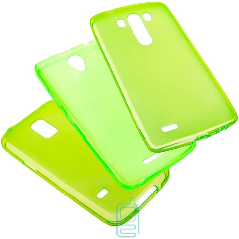 Чехол силиконовый цветной Lenovo A560 зеленый