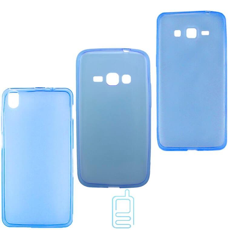 Чехол силиконовый цветной Lenovo A560 синий