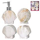 Набор аксессуаров для ванной комнаты 4 пр. Ракушка SNT 888-06-024