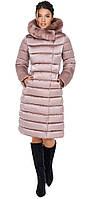 Пудровая женская зимняя куртка модель 31094