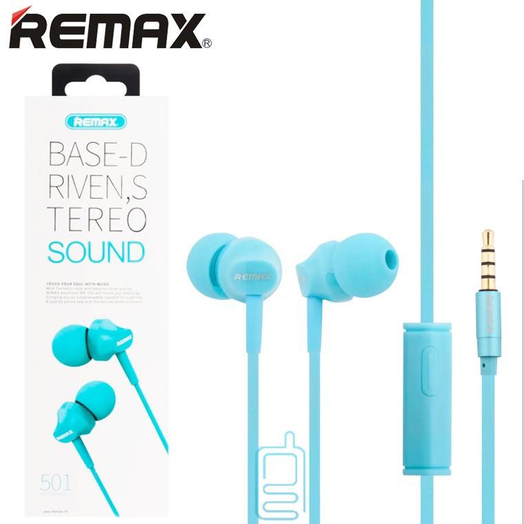Наушники с микрофоном Remax RM-501 синие