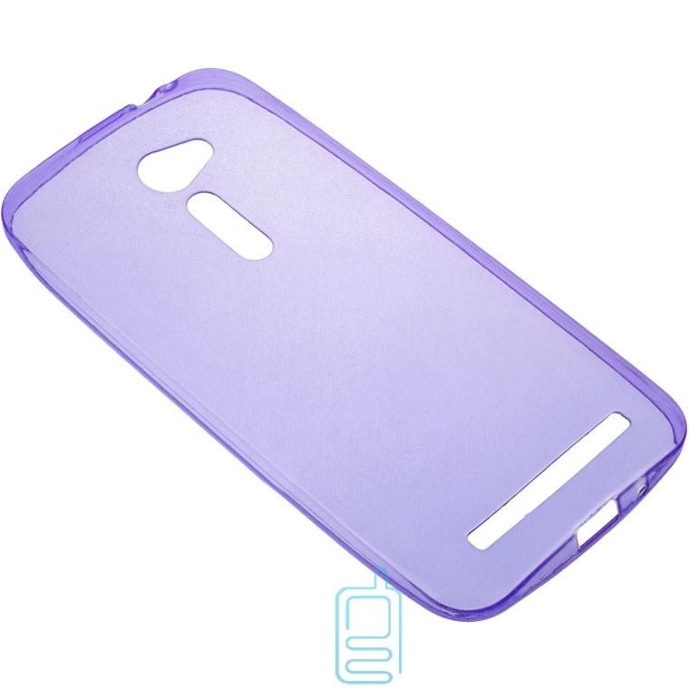 Чехол силиконовый цветной ASUS ZenFone 2 5″ фиолетовый
