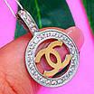 Кулон Шанель серебро 925 - Серебряная подвеска в стиле Шанель, фото 4