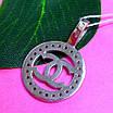 Кулон Шанель серебро 925 - Серебряная подвеска в стиле Шанель, фото 2