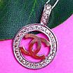 Кулон Шанель серебро 925 - Серебряная подвеска в стиле Шанель, фото 3