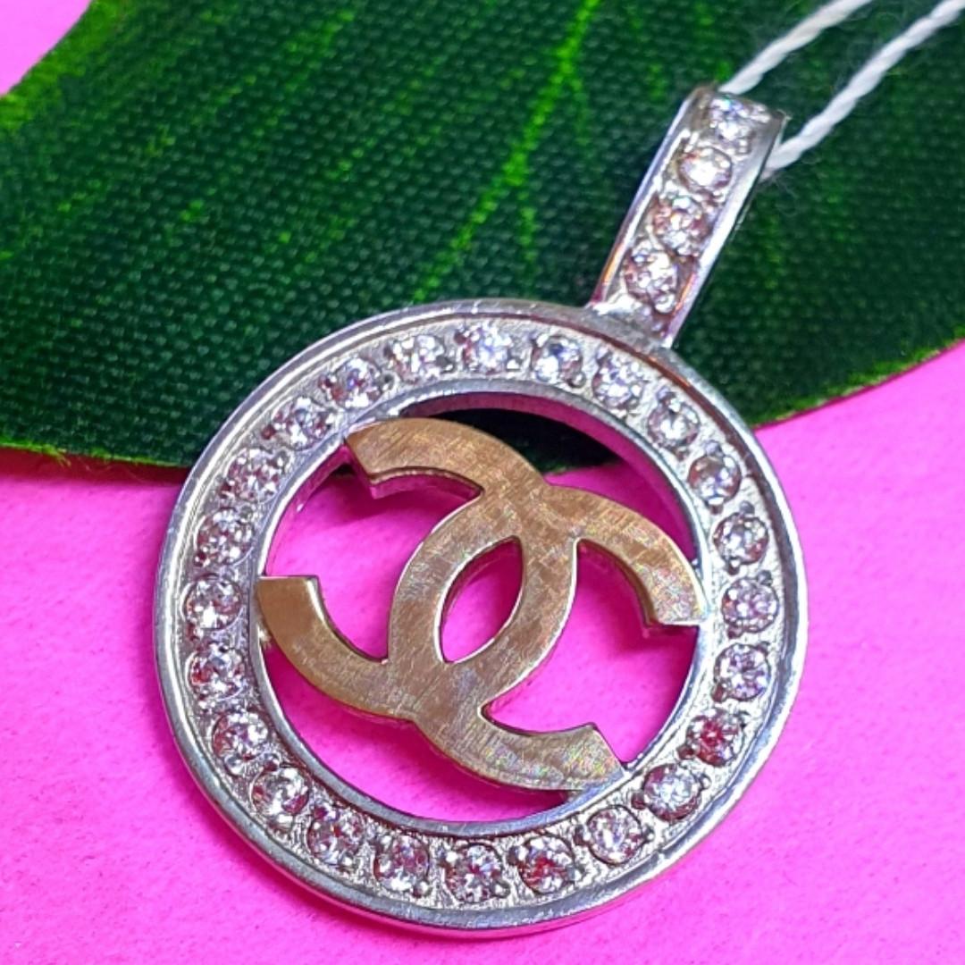 Кулон Шанель серебро 925 - Серебряная подвеска в стиле Шанель