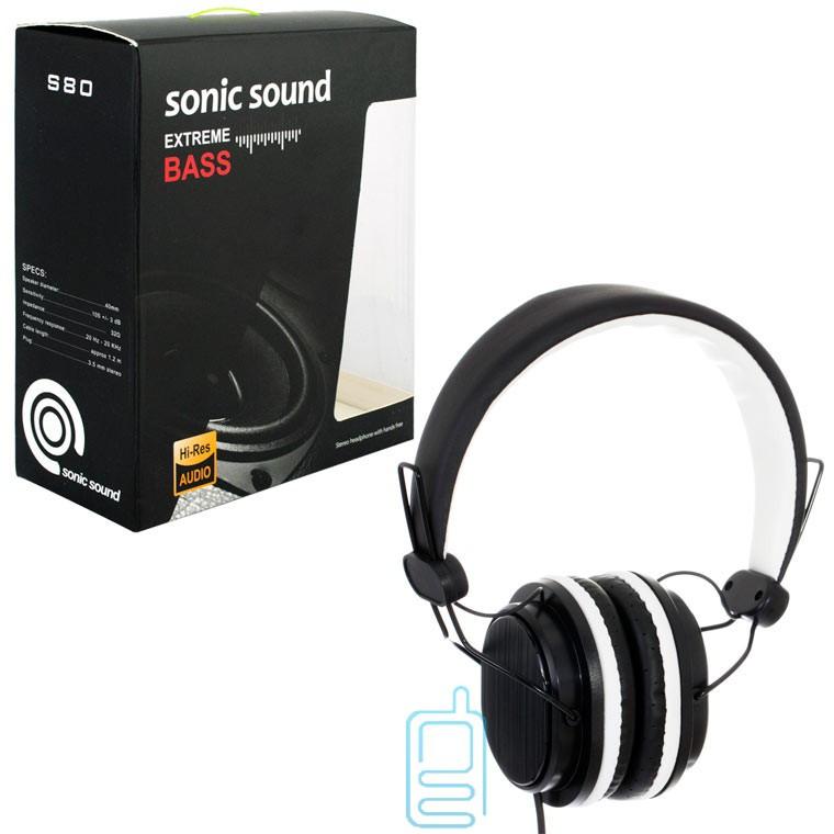 Наушники Sonic Sound E288 черно-белый